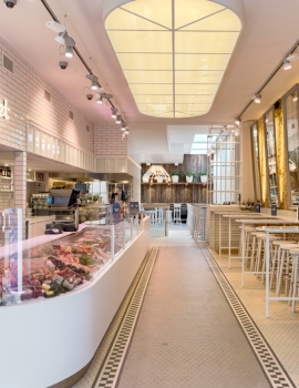 Een puur en clean interieur voor The Sea Food Market